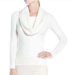 Off white cowl Neck BCBG Sweater